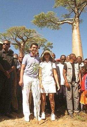 Andry Rajoelina - Rajoelina and his wife Mialy in 2012