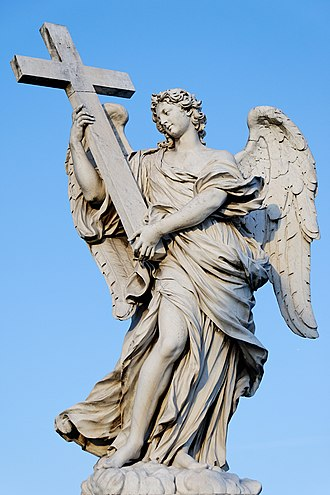 Ercole Ferrata - Angel with a Cross, Ponte Sant'Angelo, Rome