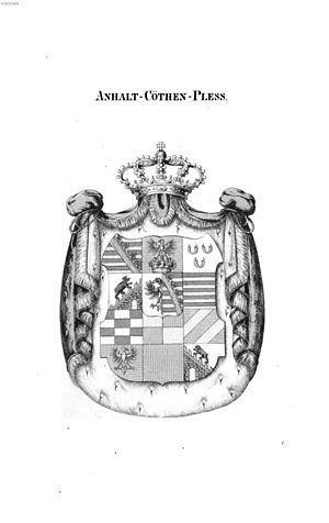 Anhalt-Köthen - Arms of Anhalt-Köthen-Pless