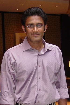 1996 Cricket World Cup - Anil Kumble, the leading wicket taker in the tournament