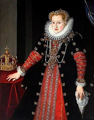 Anne of Austria, Queen of Poland - Portrait by Martin Kober