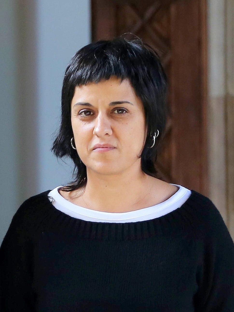 Anna Gabriel al Palau de la Generalitat (10 de febrer de 2016)