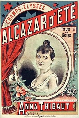 Anna Thibaud - Poster for the Alcazar d'Eté
