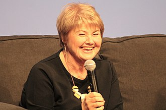 Annette Badland - Annette Badland answering questions during a group panel at the Sasnak City Outlander convention on 17 November 2018.