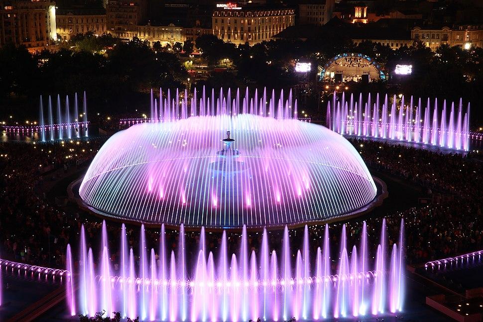 Ansamblul de fântâni din Piața Unirii, București