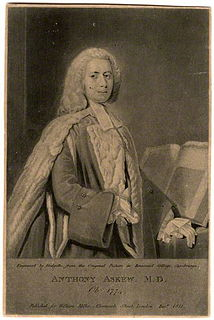 Anthony Askew English physician and book collector