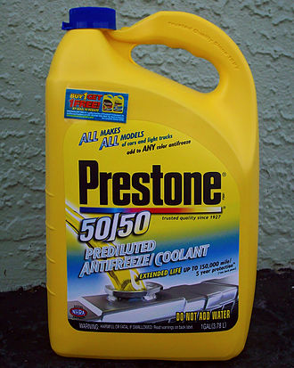 Plastic container - A plastic bottle of antifreeze