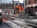 Anzin & Valenciennes - Travaux de raccordement des lignes A & B du tramway de Valenciennes à la Croix d'Anzin le 19 août 2013 (13).JPG