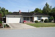 Home of Paul and Clara Jobs, on Crist Drive in Los Altos, California.