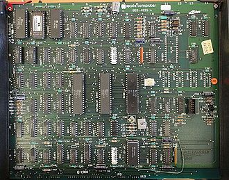 Apple Lisa - The IO board in an Apple Lisa with a Macintosh XL UV-EPROM installed