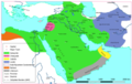 Approximate map of areas under Ibn al-Zubayr's control after the death of Muawiya II.png