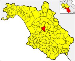 Aquara within the Province of Salerno