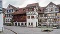Arbon TG - Schmiedgasse mit Bohlenständerhaus (1471).jpg