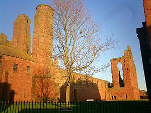 Arbroath - Ruined Arbroath Abbey, built from local red sandstone