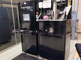 Electron-beam additive manufacturing - Image: Arcam A2