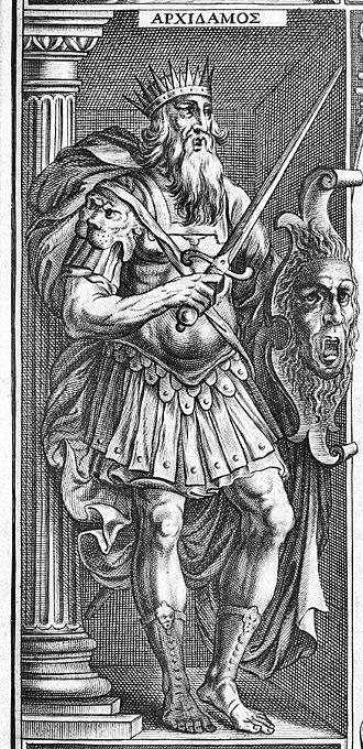 Archidamus II - Archidamos II. 1629 woodprint.