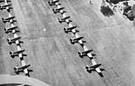 Arledge Field - Fairchild PT-19s on Parking Ramp.jpg