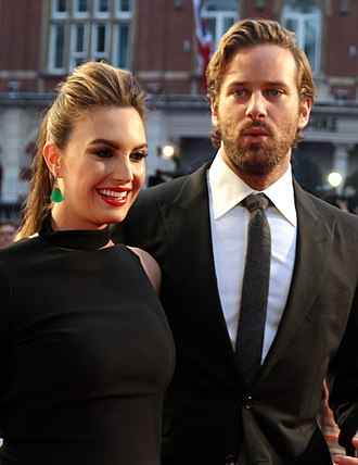 Armie Hammer - Hammer and his wife, Elizabeth Chambers, at the 2016 London Film Festival