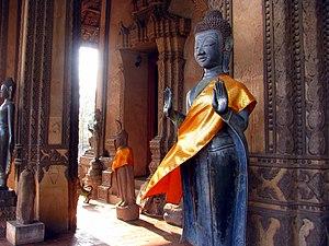 Haw Phra Kaew - Standing Buddha figures
