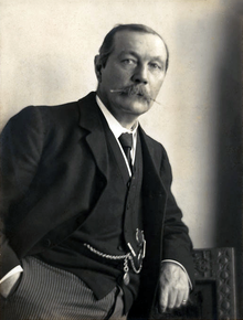 Photo of Sir A. Conan Doyle and familyBain News Service no date recorded.