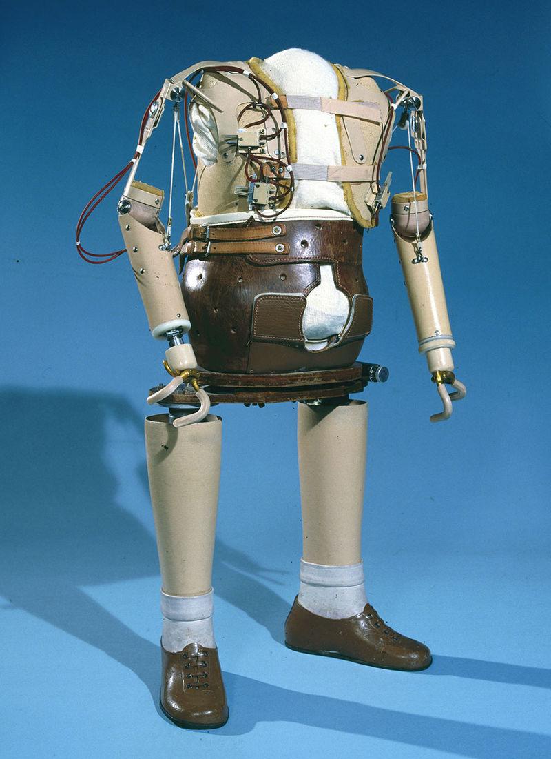 Artificial limbs for a thalidomide child, 1961-1965. (9660575567).jpg