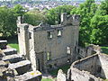 Ashby de la Zouch castle front building as seen from the tower.JPG