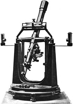 Zenith telescope - Astronomical transit and zenith telescope, 1898