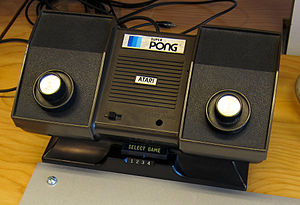 English: Atari Super Pong (model C-140) - Firs...