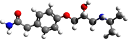 Atenolol 3d structure.png