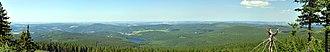 Aue-Schwarzenberg - Image: Auersberg panorama (aka)
