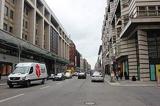 Friedrichstraße - Aufsicht auf die Friedrichstraße