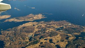 Bokn - Aerial view of the islands of Bokn