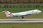 Austrian Airlines, OE-LFH, Fokker F70 (22440192844).jpg