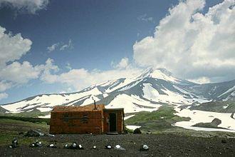 Avachinsky - Avachinsky, seen from base camp.