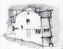 Dessin d 39 architecture wikimonde for Dessin batiment 3d