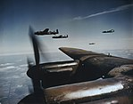 Avro Lancaster Bombers in Flight, 26 August 1943 TR1156.jpg