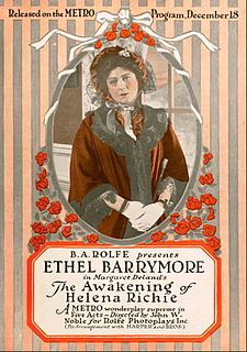 <i>The Awakening of Helena Richie</i> (film) 1916 silent film directed by John W. Noble