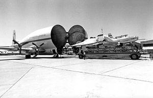 B377SGT Super Guppy on Ramp Loading the X-24B and HL-10 Lifting Bodies DVIDS845948.jpg