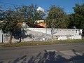 BKK Taxi Ügyfélszolgálata, festett kerítés, 2018 Józsefváros.jpg