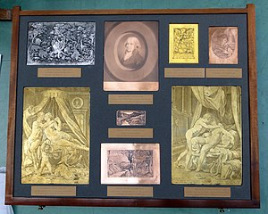 Etching - Selection of early etched printing plates from the British Museum
