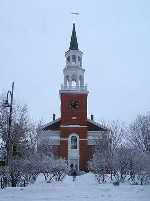 Unitarian Church (Burlington, Vermont) - Unitarian Church at the top of Church Street
