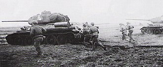 Siege of Budapest - A counterattack of Soviet infantry and tanks of the 18th tank corps