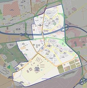 Bab Ezzouar - Image: Bab ezzouar map