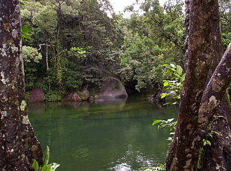 Babinda - Babinda Creek, as seen from The Boulders picnic area