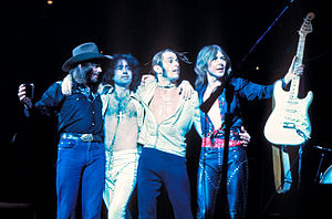 Bad Company - The original Bad Company in 1976. (L to R) Boz Burrell, Paul Rodgers, Simon Kirke, Mick Ralphs.