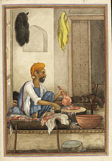 Badhak or Qassab, the caste of butcher - Tashrih al-aqvam (1825), f.320v - BL Add. 27255.jpg