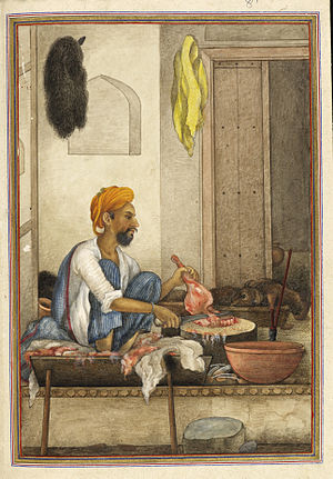 Qassab - A Qassabs most prominent job is as a butcher. - Tashrih al-aqvam (1825)