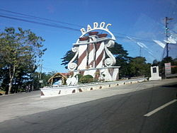 Welcome sign of Badoc