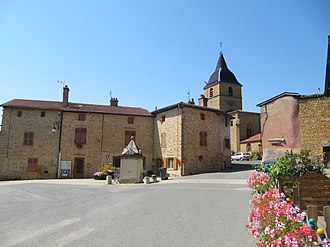 Bagnols, Rhône - The centre of Bagnols