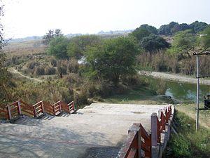Bakulahi River - Bakulahi flowing through Vishwanathganj's Shani Devi Temple.